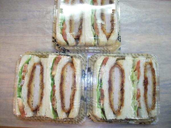トンカツ野菜サンド